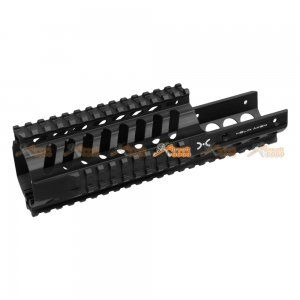 Fashion Defence Aluminum 9 Inch Short KRISS Rail for KWA KRISS VECTOR Airsoft GBB (Black)