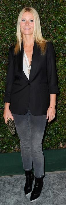 Shoes, jeans, and blazer - Stella McCartney Stella McCartney Stretch-cotton skinny jeans Similar style blazer by the same designer Stella McCartney Tuxedo Blazer in Black Stella McCartney Satin-lined perforated box clutch