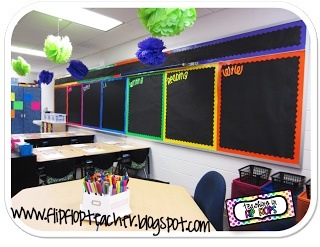 I love black bulletin boards and the color spectrum.