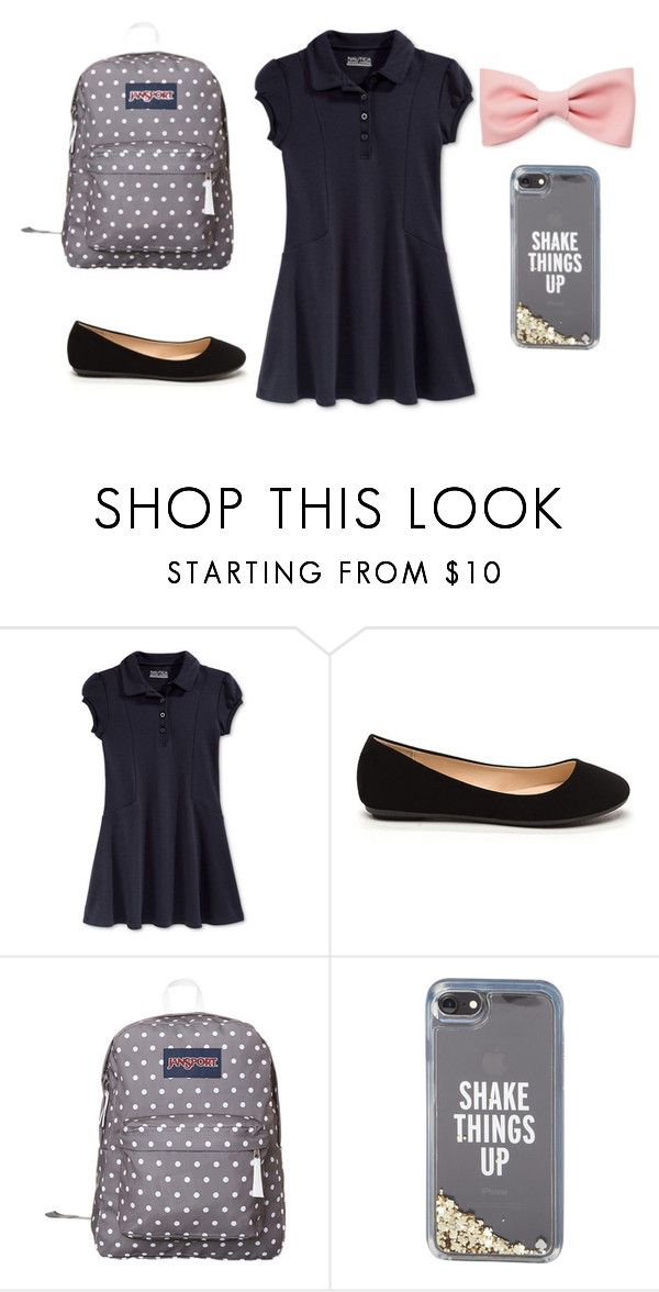 """""""Cute school uniform"""" by awesome-olivia on Polyvore featuring Nautica, JanSport, Kate Spade and Forever 21"""