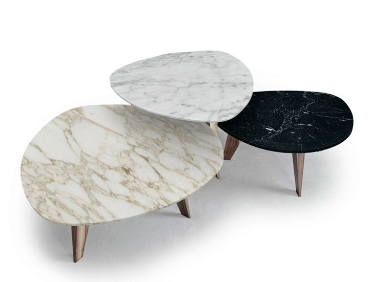 'Edgy' coffee tables with asymmetrical surfaces and soft colours #coffeetabledesign modern coffee table #marbledesign marble coffee table #livingroomdesign the living room . See more at www.coffeeandsidetables.com