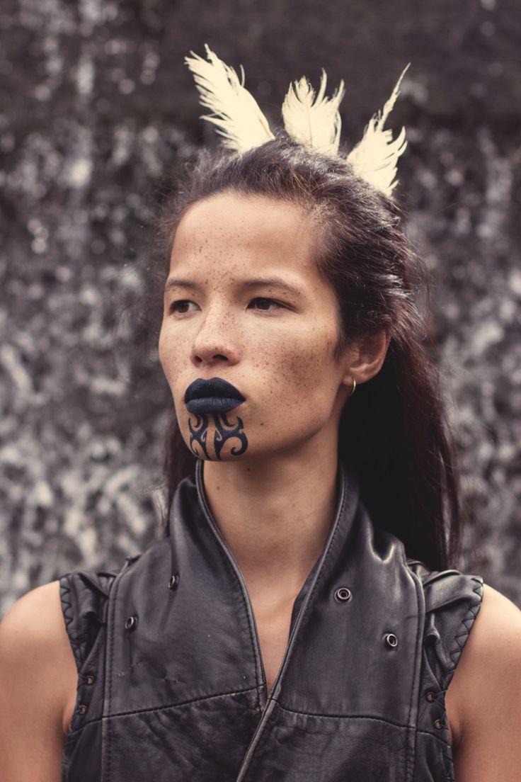 Female Ta Moko On Lips And Chin: Maori Face Tattoo, Maori People, Maori