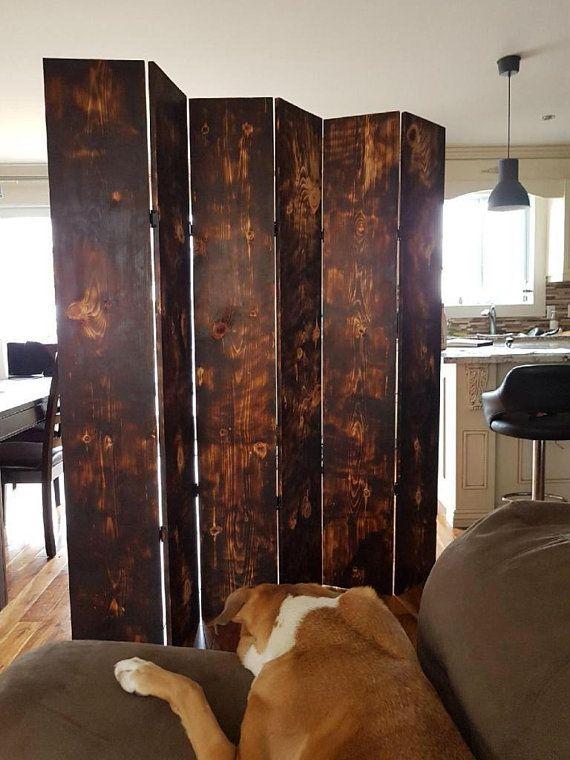 Burned Wood Room Divider Wood Room Divider Wood Accent Decor