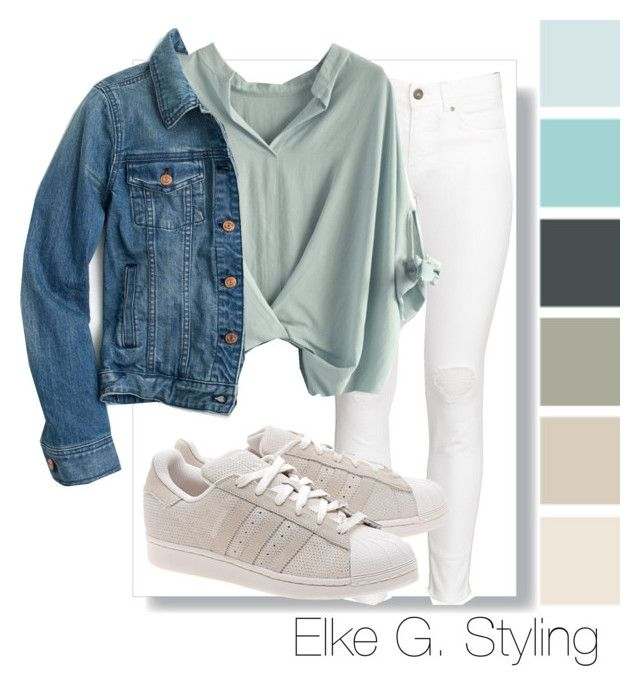 """""""Denim does it!"""" by styletrader on Polyvore featuring H&M, Chicwish, adidas Originals, J.Crew and denim"""