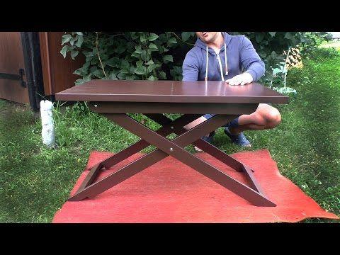 Самодельный журнальный столик. Складной столик для ноутбука - YouTube