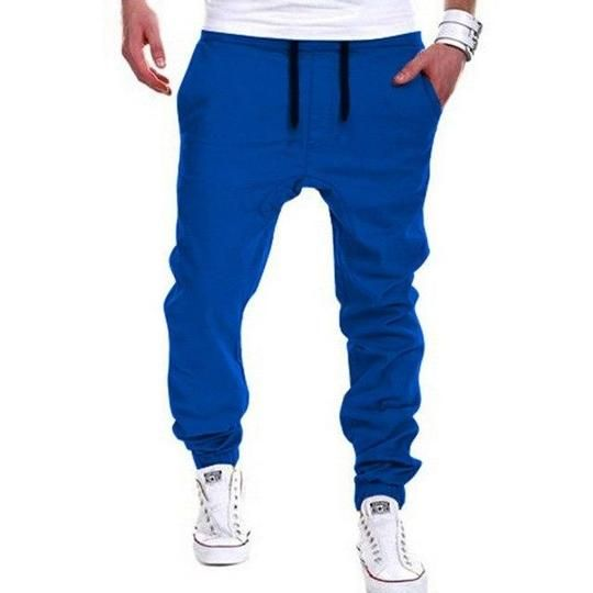 New Fashion Men Cross Pants Tether Casual Loose Jogger Pants Solid Leisureeticdress