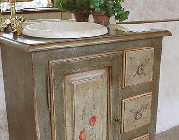 Waschbeckenschrank aus Holz - Elegantes Möbelstück im Bad - badezimmermöbel aus holz