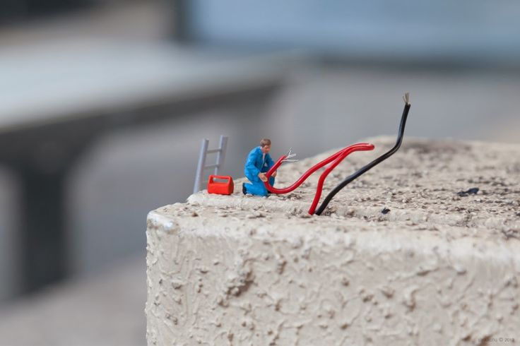 little people photography miniature human figurines Electrician
