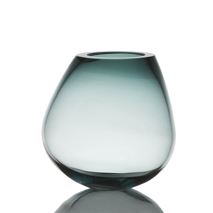 Cognac Glass Vase in Blue, $480, CLU Living