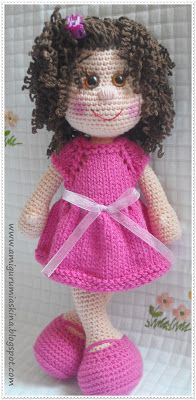 Curly Doll - Free Amigurumi Pattern (Scroll Down for the English Version) ༺✿ƬⱤღ✿༻