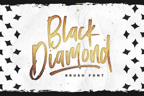 Black Diamond Brush Font by Sam Parrett. A little bit rock n roll...