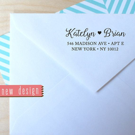 custom PRE INKED address stamp with proof from USA pre by MyStamp