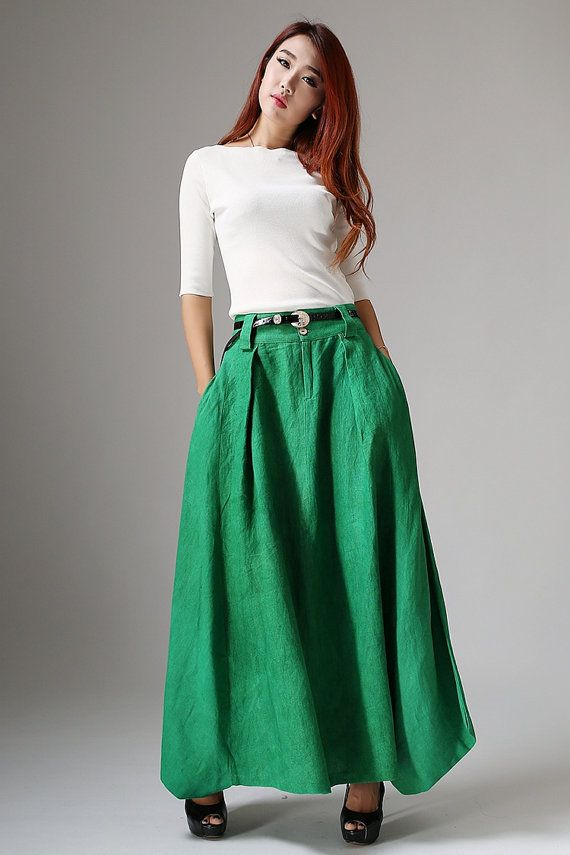 Womens Green Skirt Fashion Skirts