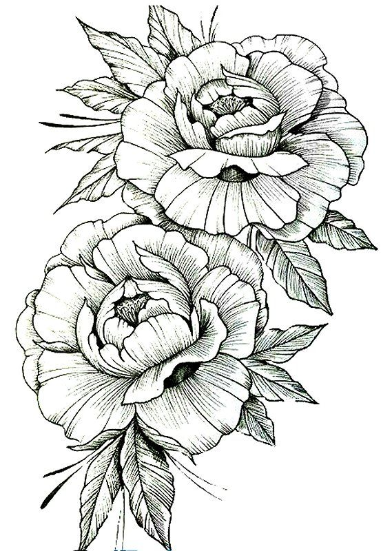 Two Flowers Flower Printable Flower Tattoo Designs Colorful Pictures
