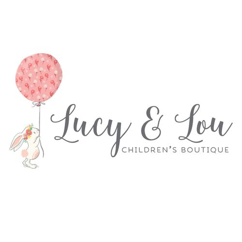 Premade Logo - Bunny & Balloon Logo - Customized with Your Business Name!