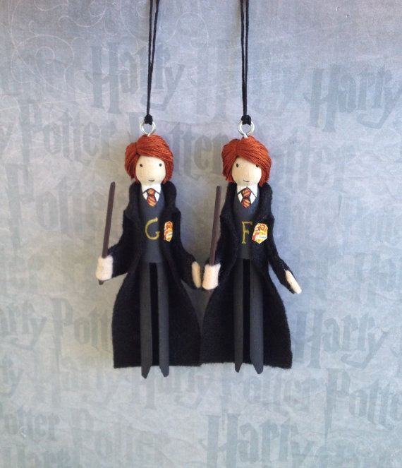 Hey, I found this really awesome Etsy listing at https://www.etsy.com/listing/203225757/fred-and-george-weasley-clothespin-doll