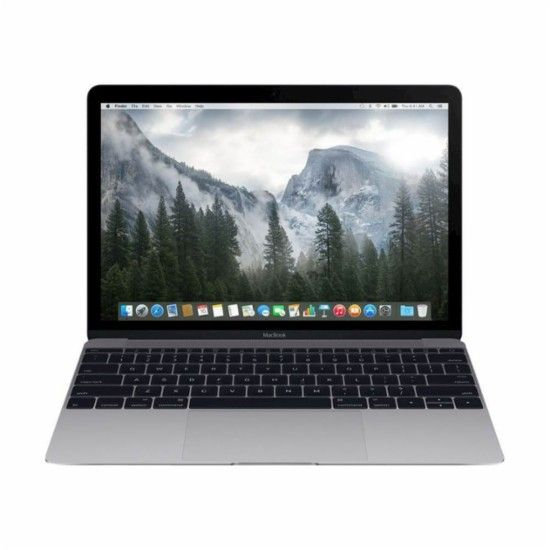 """Apple - Macbook® 12"""" Refurbished Laptop - Intel Core M - 8GB Memory - 256GB Solid State Drive - Space Gray - Front Zoom"""