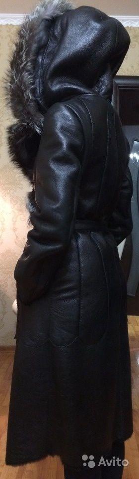 Дубленка черная женская в идеальном состоянии — фотография №4