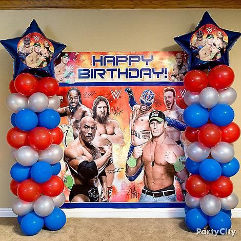 Bring the WWE superstars to the party with a WWE scene setter! Really smack down the fun with our balloon tower how-to!