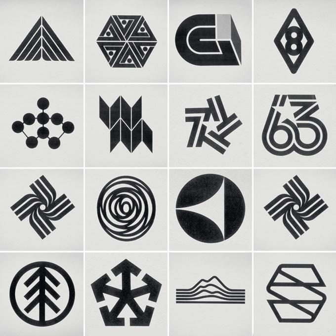 retro logo marks