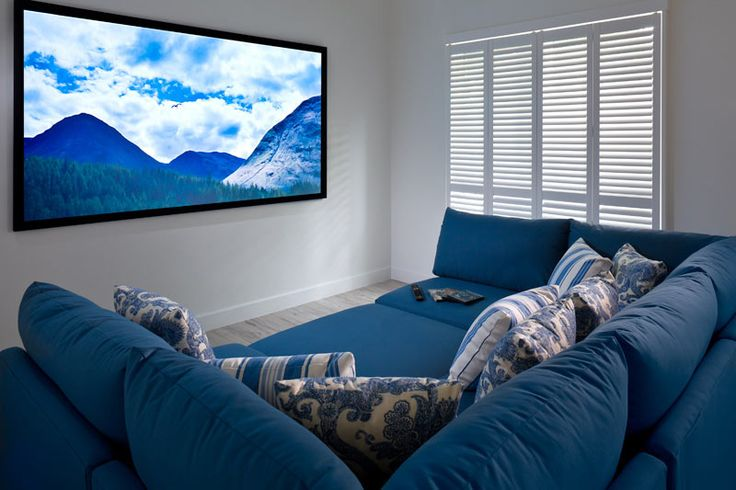 """comfy movie room with a """"small"""" screen!"""