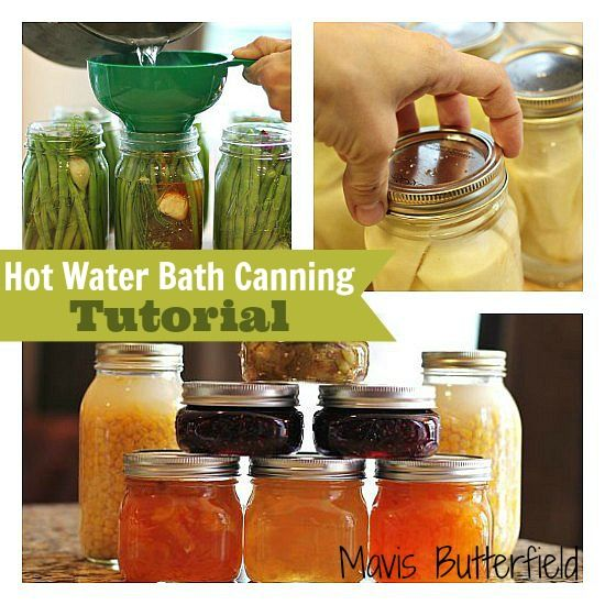 Canning Index including hot water bath canning tutoril