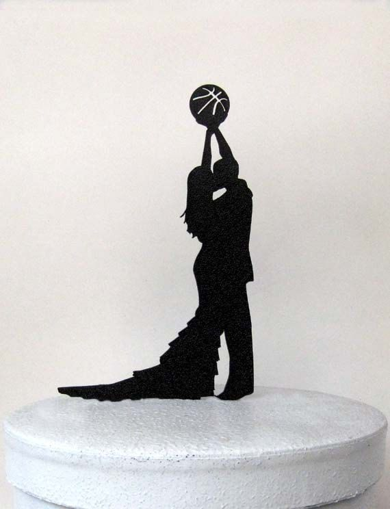 Wedding Cake Topper  Basketball wedding by Plasticsmith on Etsy