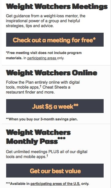 Weight Watchers deals and coupons