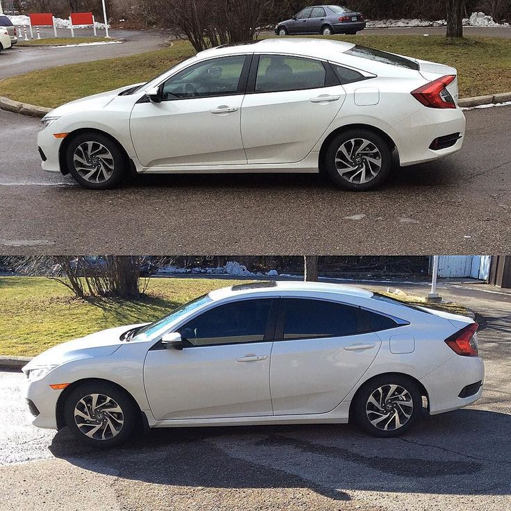 2016 Honda Civic tinted 20front and 05rear. sweetwheelz