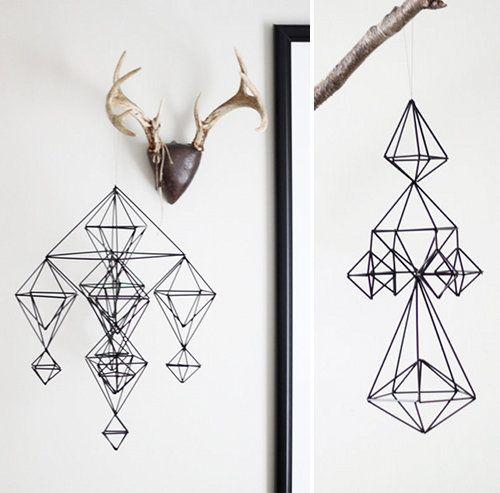 Modern Geometric Straw Ornaments