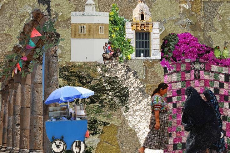 Street Scene. Photoshop composition by Yasmine Dabbous, Kinship Stories' designer.