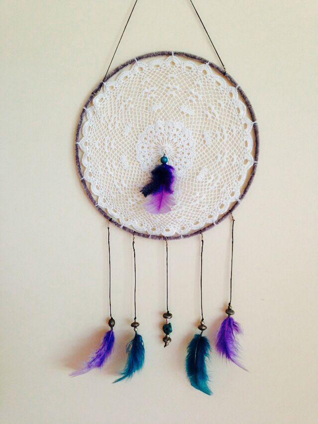 Purple feathers dreamcatcher....$20