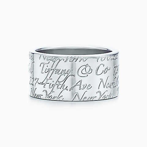 Tiffany Notes ring in sterling silver, wide.