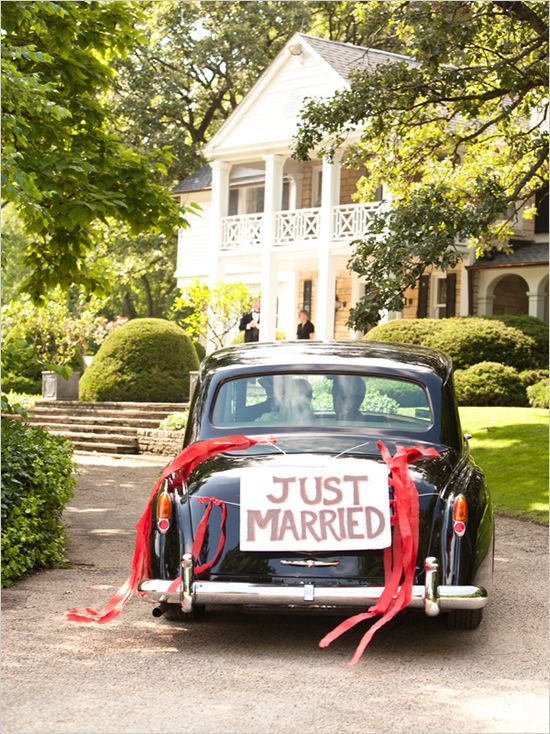 86 best images about wedding car decorations on pinterest for Just married dekoration
