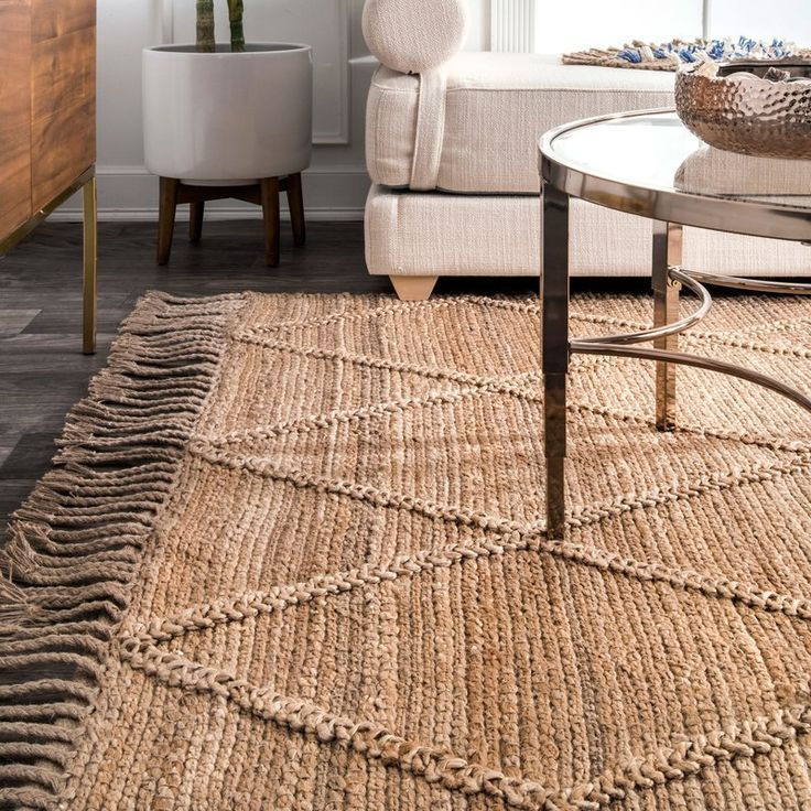 Augustine Hand Tufted Natural Area Rug Jute Rug Living Room Rustic Area Rugs Natural Area Rugs