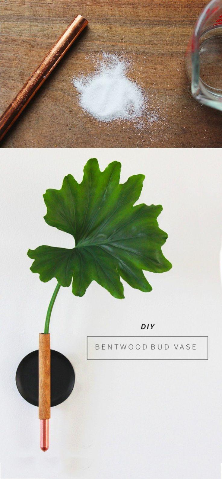 Florero con estilo minimalista - annabode.com - DIY Copper Bud Vase