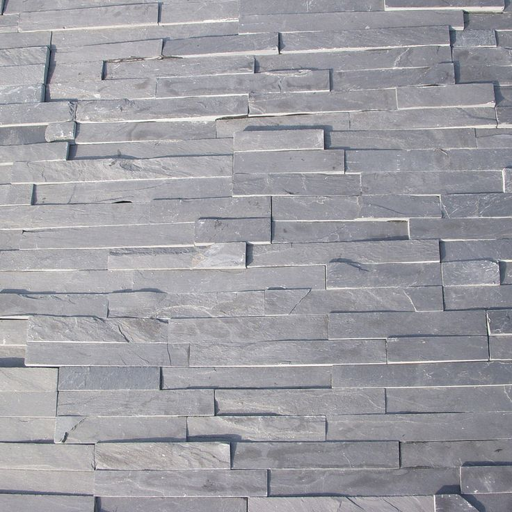 "Stone Siding - Slate Collection - Black Slate/Thin Stone 4""x18"""