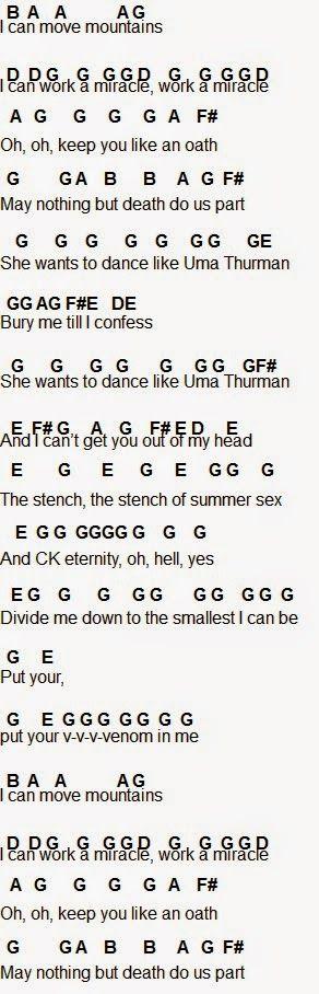 Flute Sheet Music: Uma Thurman