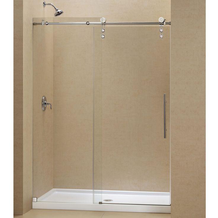 Polished Brass Pivot Shower Door