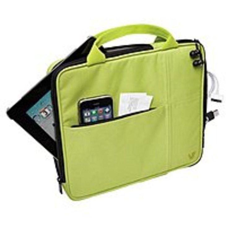 V7 Attache Slim TA20GRN-1N Sleeve with Pocket for Apple iPad 3rd generation, iPad 1, iPad 2 - Green