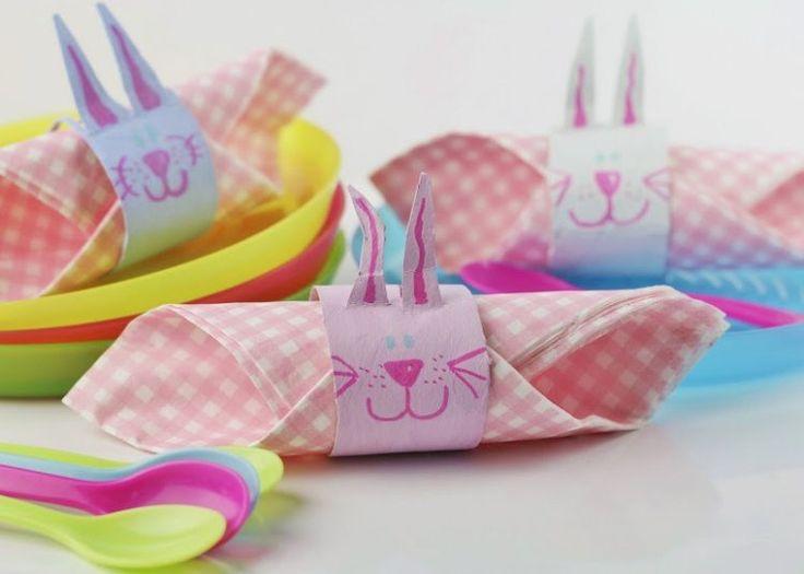 rond de serviette en forme de lapin pour votre table de Pâques