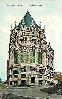 Boston Massachusetts MA 1908 Chamber of Commerce Antique Vintage Postcard
