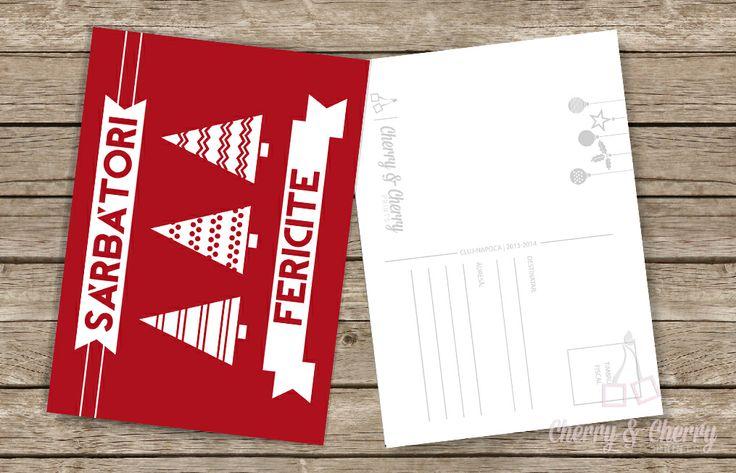 Cărți postale numai bune pentru a răspândi Magia sărbătorilor de Iarnă || Cherry & Cherry PRINTS #craciun #christmascards #cherrycherryprints #cadouridecraciun