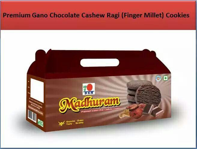 DXN Madhuram Cookies Premium Gano Chocolate Cashew Ragi ( Finger Millet ) Cookies.