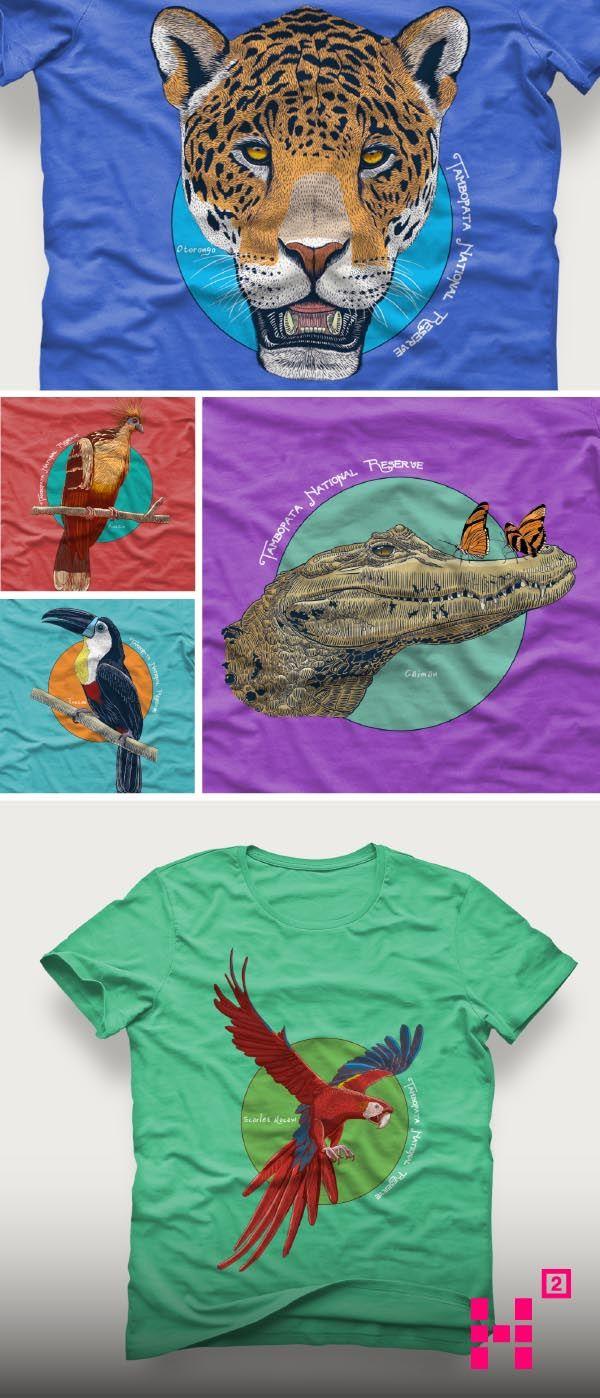 #Diseño e #ilustración de 5 #animales representativos de la #selva #peruana.
