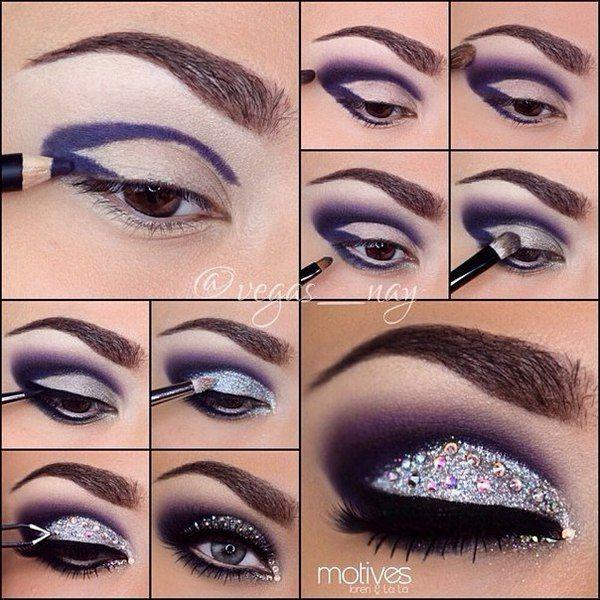 макияж со стразами урок