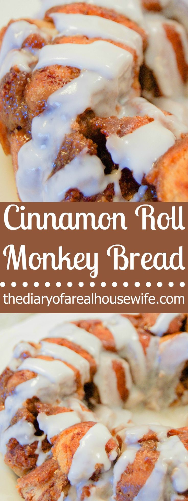There is something almost sinful about monkey bread! It's so yummy and you just can't stop eating it! Well it got even better with this Cinnamon Roll Monkey Bread covered in icing! Ready to try this delicious easy recipe!