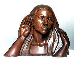 "Juan María Medina Ayllón - ""Sensibilidad""  Escultura en madera de caoba."