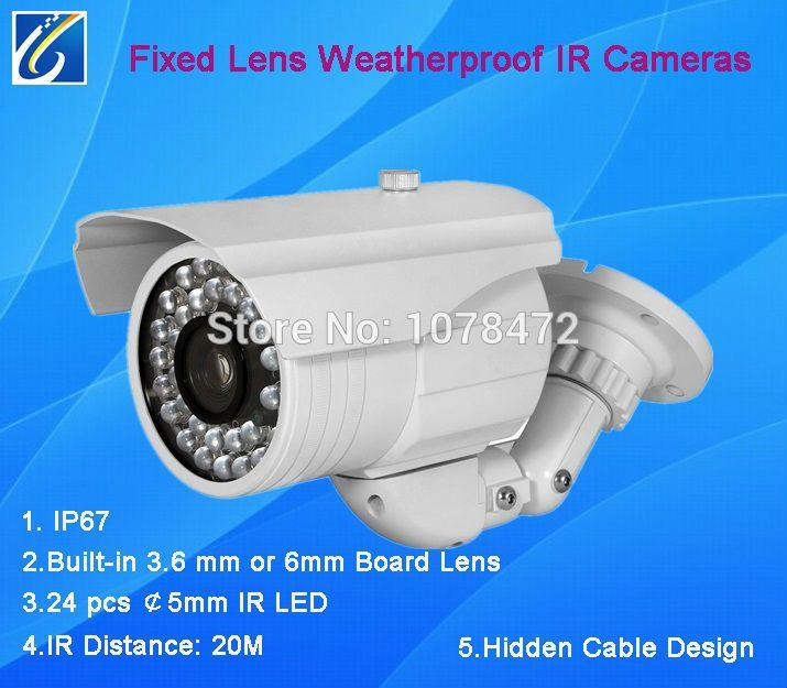 """Дешевое Дешевые цвет 1/3 """" SONY 420TVL 3142 + 633 пуля фотоаппарат водонепроницаемый открытый / закрытый IP67 ик камеры, Купить Качество Surveillance Cameras непосредственно из китайских фирмах-поставщиках:                    Дешевые 1/3 """"sony 420TVL 3142 + 633 пуля камеры, водонепроницаемый открытый/крытый IP67 ик-камер"""
