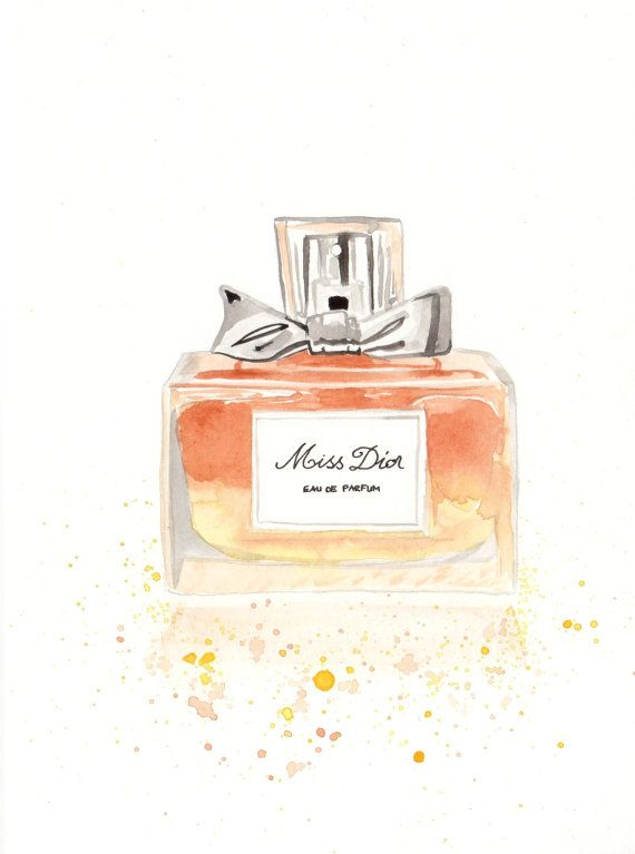 Christian Dior Miss Dior Parfum Fragrance  Watercolor by MilkFoam
